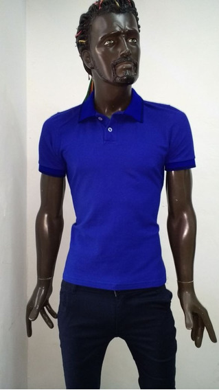 Playera Polo Azul