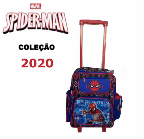 Mochila  Escolar Infantil Rodinhas Homem Aranha Spider-man