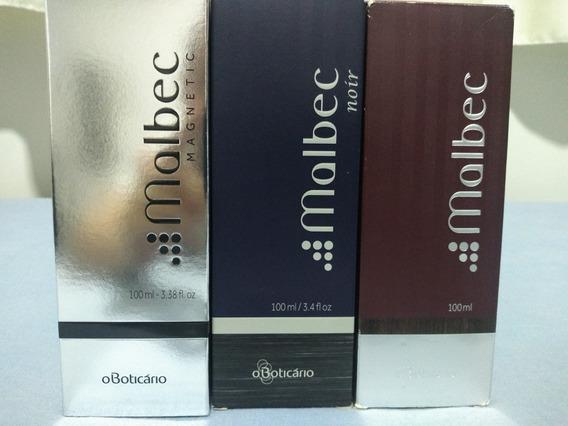 Kit 3 Perfumes Malbek Magnetic Noir