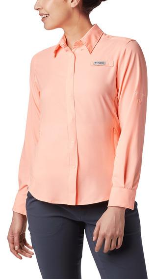 Camisa Columbia Pesca Tamiami Ii Mujer Naranja