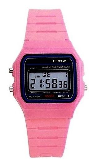 Relógio De Pulso Digital 91w Masculino Feminino Coloridos