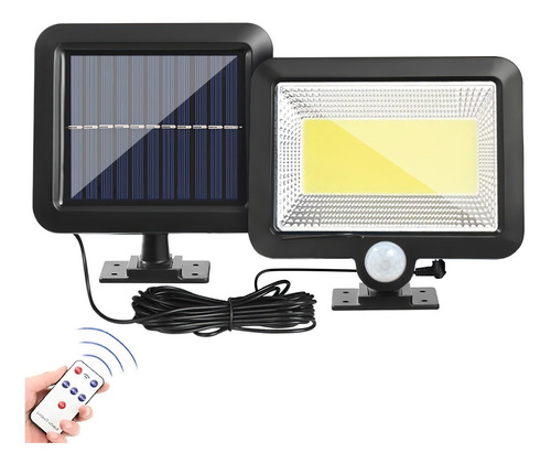 Lámpara Solar Recargable Luz Solar Exterior Jardin 100 Led