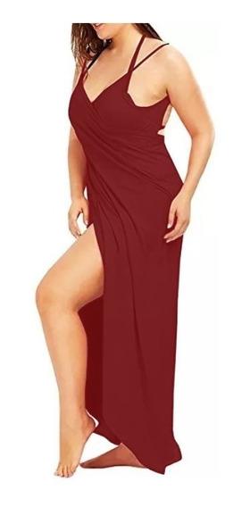 Vestido Saída De Praia Plus Size Longo Moda Feminina, Roupas