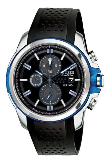 Relógio Masculino Citizen Ca0421-04e Borracha