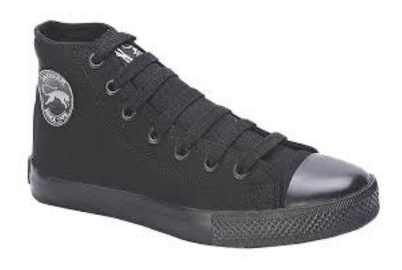 Botitas Zapatillas Lona Negras Hombre Mujer Jaguar 8514