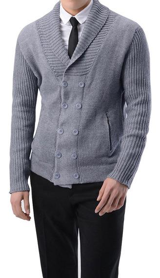 Casaco De Xale Masculino De Inverno Quente Malha Lã Sentir