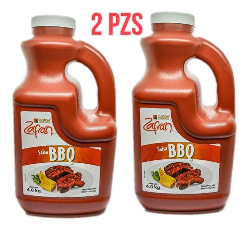 Duo Pack Salsa Bbq Zafran Original 4kg ( 2 Pzs )