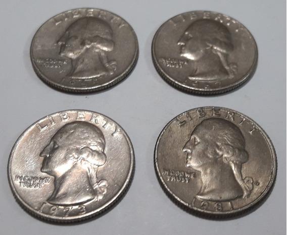 Monedas Usa Quarter Dollar Lote X 4 Estados Unidos Exc.est