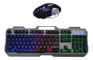 Teclado Gamer Metalico Retroiluminado Mouse 6d 3200dpi