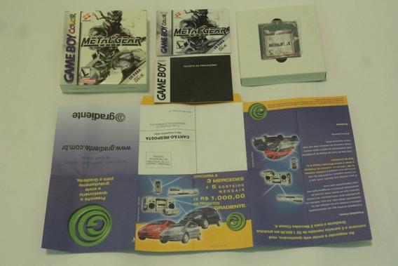 Jogo Metal Gear Solid Original Cib Nacional Gameboy Color