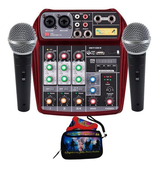 Mixer Videoke Karaoke Playback Instrumentos Reais Realismo
