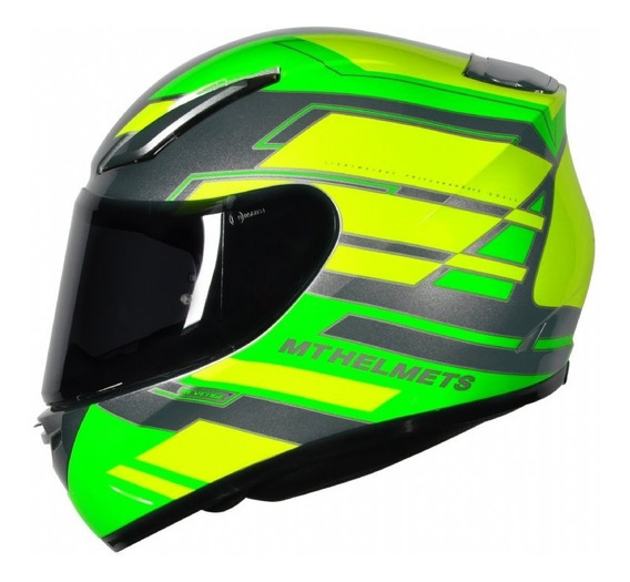 Capacete Moto Mt Revenge Zusa Verde Fluor Motoqueiro