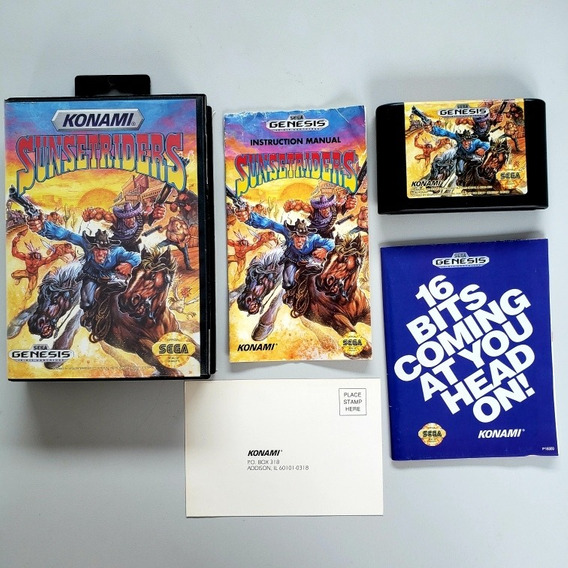 Sunset Riders Original Mega Drive Sega Genesis
