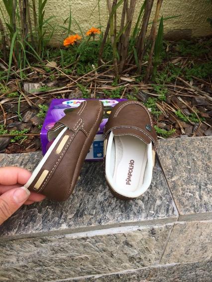Sapato Mocasssim Infantil Pimpolho Antiderrapante Bebê