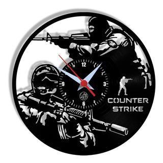 Relógio De Parede Vinil - Counter Strike Cs Go