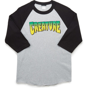 Playera Creature Logo Raglan 3/4 Sleeve Ath Heather Black