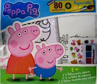 Colorindo Com Adesivos: Peppa Pig/ On Lin Entrega Garantida