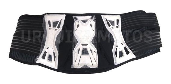 Faja Motocross Elastico Velcro Negro Blanco Um