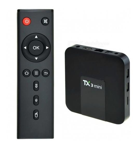 Tv Box Conversor Smart Tv 2gb Ram 16gb Andoid Tx3 Mini