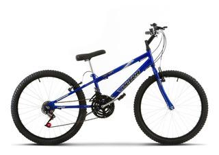 Bicicleta Aro 24 Pro Tork Ultra Freio V Break Azul Rebaixada