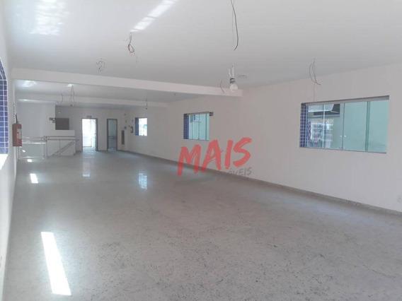 Prédio Inteiro Para Comércio, 1000 M² Por R$ 40.000/mês - Embaré - Santos/sp - Pr0007
