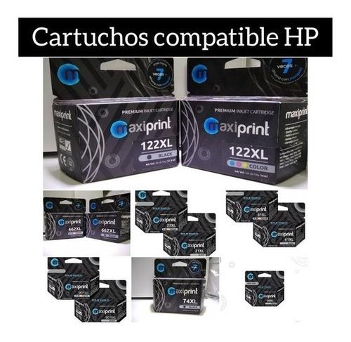 Cartucho De Tinta Hp 122 60 664 662 901 21 74 92 93 61 Nuevo