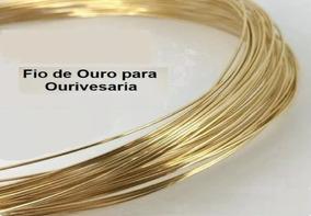 Fio De Ouro Para Ourivesaria 18k-750 Peso 0,5g (meio Grama)