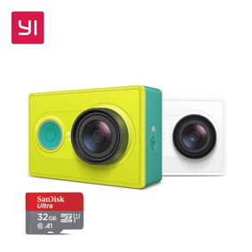 Promoção Câmera De Ação Filmadora Xiaomi Yi 2k+cartão 32gb
