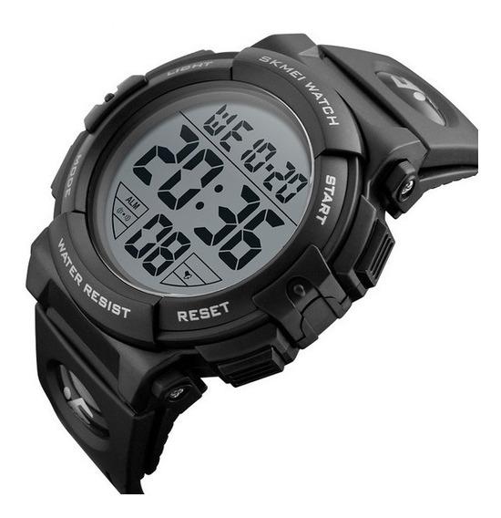 Relógio Skmei 1258 Militar Esportivo Digital Black Original