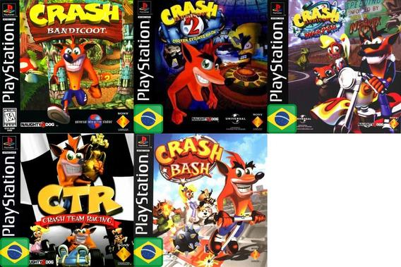 Promoção Coleção 5 Jogos Crash Bandicoot Ps1 Patch