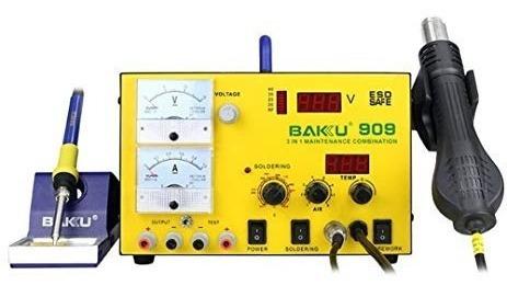Estação De Solda + Ferro De Solda + Dc Power Supply Bk-909