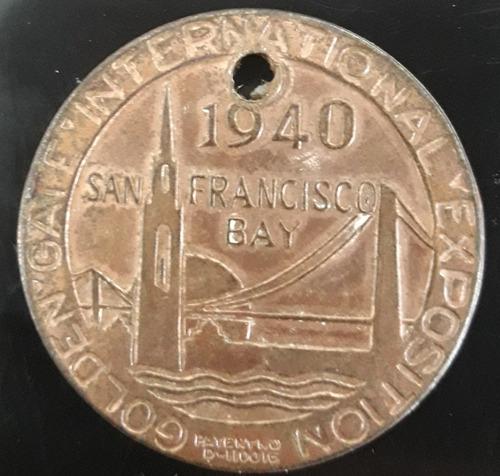 Imagem 1 de 2 de Ficha Golden Gate International Exposition 1940treasure Isl