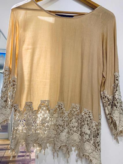 Camisa De Guipiure Zara
