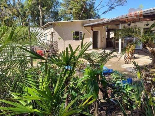 Chácara Com 2 Dormitórios À Venda, 880 M² Por R$ 250.000,00 - Jardim Somar - Peruíbe/sp - Ch0148