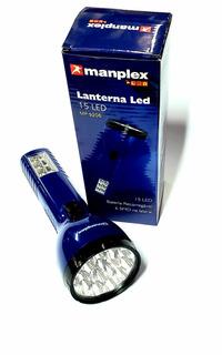 Lamterna Led Manplex 15 Led Bateria Recarregável
