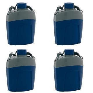 Kit 4 Cantis - Cantil Térmico Aladdin 1 Litro Azul