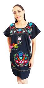 Vestido Dama Mexicano Bordados A Mano Artesanal