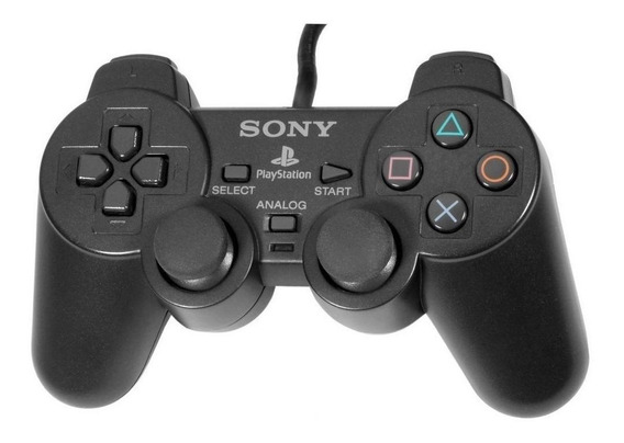 Controle joystick Sony Dualshock 2 preto