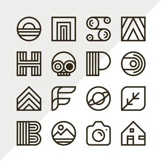16 Diseños De Logos Minimalistas Plantillas En Vectores 02