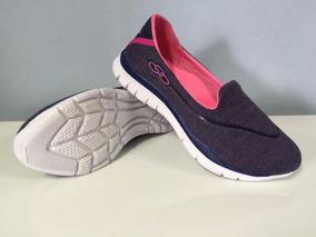 Calçado Olympikus S/ Cadarço Tênis Rosa Preto Azul Cinza