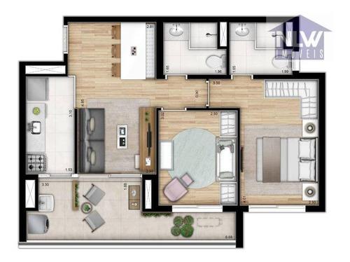 Apartamento Com 2 Dormitórios À Venda, 63 M² Por R$ 702.389,00 - Bela Vista - São Paulo/sp - Ap1987