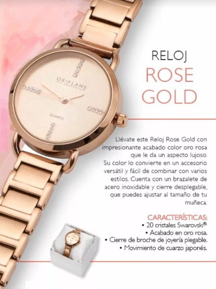 Reloj Mujer Modelo Gold Rose By Oriflame