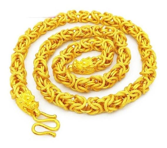 R$199 Lindo Cordão Colar Corrente Banhado A Ouro Hip Hop