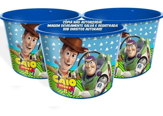 15 Balde Pipoca Toy Story Festa Personalizado Lembrança
