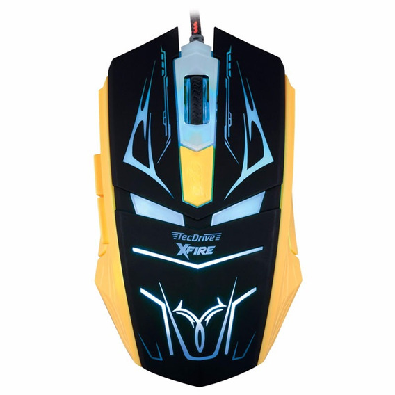 Mouse Gamer Tecdrive Xfire Neith 3200 Dpi 7 Botões Verde+ Nf