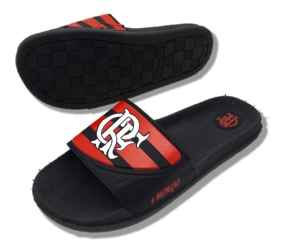Chinelo Slide Flamengo Time Masculino Leve Confortavel