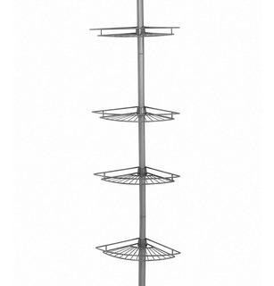 Mueble Baño Repisa Esquinero Organizador Tensión Zenna Hom3