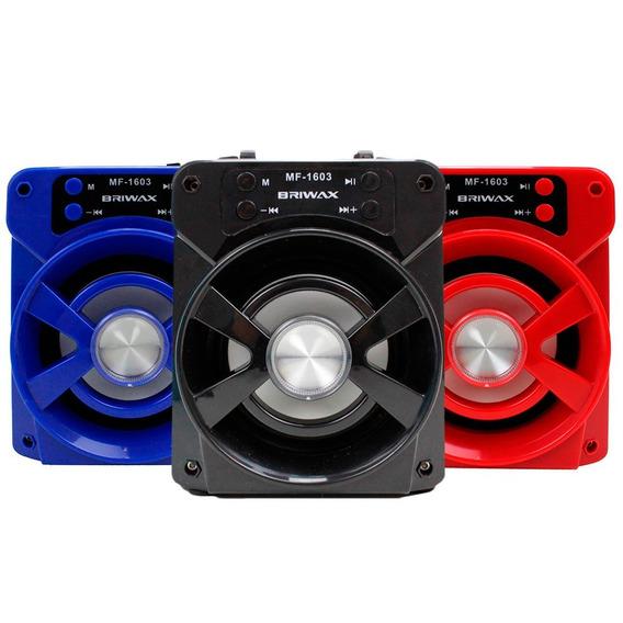 Caixa Som Mp3 Amplificada Rádio Fm Usb Sd Portátil Bluetoo