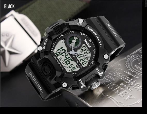 Relógio Militar Esporte Digital Analógico Barato Skmei 1029