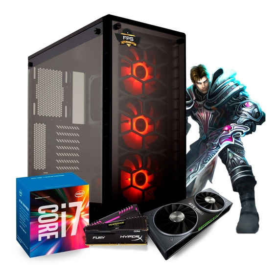 Pc Gamer Itx Fps Rush I7 7700 / Rtx 2070 / Ssd 480gb / 32gb